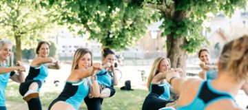 Karate im Park
